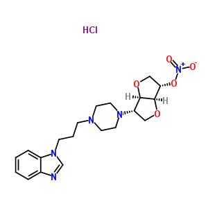 134185-37-8 1,4:3,6-dianhydro-2-{4-[3-(1H-benzimidazol-1-yl)propyl]piperazin-1-yl}-2-deoxy-5-O-nitro-L-iditol hydrochloride