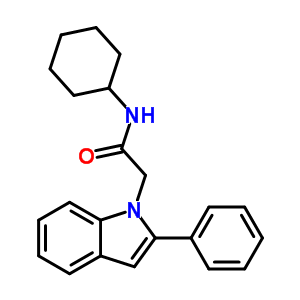 163629-08-1 N-cyclohexyl-2-(2-phenyl-1H-indol-1-yl)acetamide