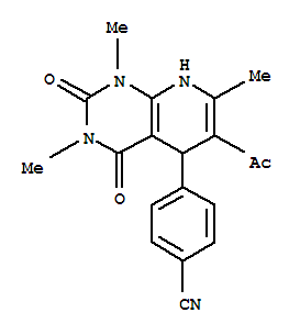 838845-73-1 Benzonitrile,4-(6-acetyl-1,2,3,4,5,8-hexahydro-1,3,7-trimethyl-2,4-dioxopyrido[2,3-d]pyrimidin-5-yl)-