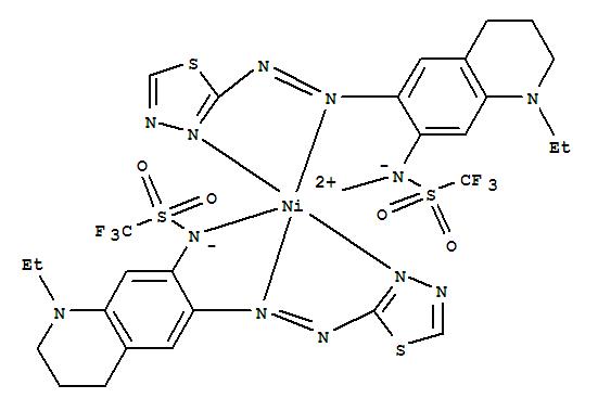 868747-30-2 Nickel,bis[N-[1-ethyl-1,2,3,4-tetrahydro-6-[(1,3,4-thiadiazol-2-yl-kN3)azo-kN1]-7-quinolinyl]-1,1,1-trifluoromethanesulfonamidato-kN]-