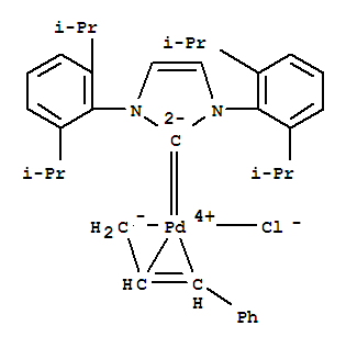 884879-23-6 Palladium,[1,3-bis[2,6-bis(1-methylethyl)phenyl]-1,3-dihydro-2H-imidazol-2-ylidene]chloro[(1,2,3-h)-(2E)-3-phenyl-2-propen-1-yl]-,stereoisomer