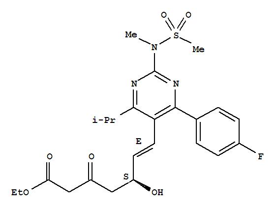 901765-36-4 6-Heptenoicacid,7-[4-(4-fluorophenyl)-6-(1-methylethyl)-2-[methyl(methylsulfonyl)amino]-5-pyrimidinyl]-5-hydroxy-3-oxo-,ethyl ester, (5S,6E)-