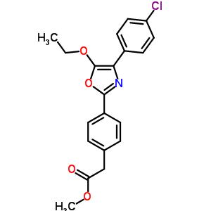80589-84-0 methyl {4-[4-(4-chlorophenyl)-5-ethoxy-1,3-oxazol-2-yl]phenyl}acetate