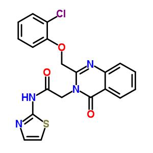 85099-81-6 2-{2-[(2-chlorophenoxy)methyl]-4-oxoquinazolin-3(4H)-yl}-N-1,3-thiazol-2-ylacetamide