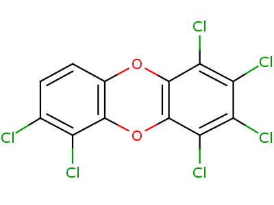 34465-46-8;58200-66-1 1,2,3,4,6,7-hexachlorooxanthrene