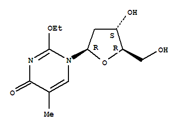 59495-21-5 1-(2-deoxy-beta-D-threo-pentofuranosyl)-2-ethoxy-5-methylpyrimidin-4(1H)-one