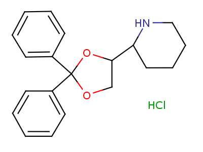 631-06-1 (2S)-2-[(4S)-2,2-diphenyl-1,3-dioxolan-4-yl]piperidine hydrochloride (1:1)
