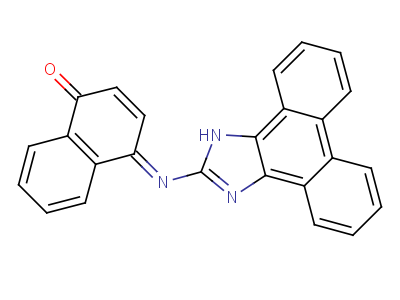 71064-67-0 (4E)-4-(1H-phenanthro[9,10-d]imidazol-2-ylimino)naphthalen-1(4H)-one