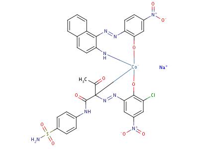 93940-46-6 sodium [2-[(2-amino-1-naphthyl)azo]-5-nitrophenolato(2-)][N-[4-(aminosulphonyl)phenyl]-2-[(3-chloro-2-hydroxy-5-nitrophenyl)azo]-3-oxobutyramidato(2-)]cobaltate(1-)