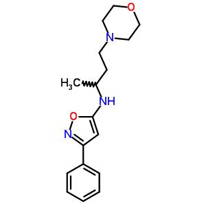 86684-30-2 N-(1-methyl-3-morpholin-4-ylpropyl)-3-phenylisoxazol-5-amine