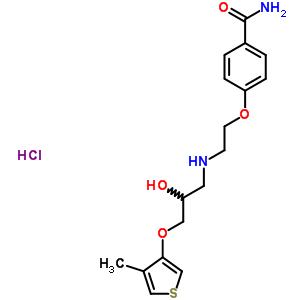 99698-07-4 4-[2-({2-hydroxy-3-[(4-methylthiophen-3-yl)oxy]propyl}amino)ethoxy]benzamide hydrochloride