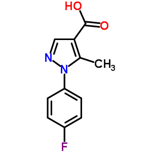 217073-76-2 1-(4-fluorophenyl)-5-methyl-1H-pyrazole-4-carboxylic acid