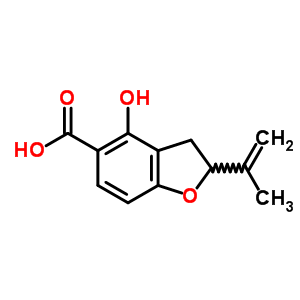 25277-45-6 4-hydroxy-2-(1-methylethenyl)-2,3-dihydro-1-benzofuran-5-carboxylic acid