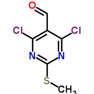 33097-11-9 4,6-dichloro-2-(methylsulfanyl)pyrimidine-5-carbaldehyde