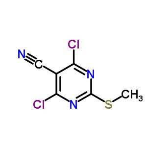 33097-13-1 4,6-dichloro-2-(methylsulfanyl)pyrimidine-5-carbonitrile