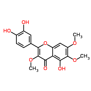 14965-20-9 2-(3,4-dihydroxyphenyl)-5-hydroxy-3,6,7-trimethoxy-4H-chromen-4-one