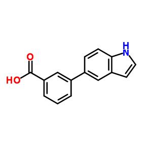 3-(1H-吲哚-5-基)苯甲酸 886363-16-2
