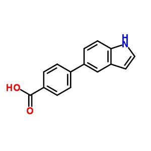 4-(1H-吲哚-5-基)苯甲酸 886363-18-4