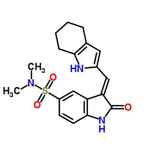 330161-87-0 (3Z)-N,N-dimethyl-2-oxo-3-(4,5,6,7-tetrahydro-1H-indol-2-ylmethylidene)-2,3-dihydro-1H-indole-5-sulfonamide
