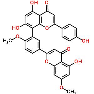 481-46-9 5,7-dihydroxy-8-[5-(5-hydroxy-7-methoxy-4-oxo-4H-chromen-2-yl)-2-methoxyphenyl]-2-(4-hydroxyphenyl)-4H-chromen-4-one