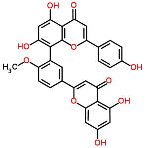 521-32-4 8-[5-(5,7-dihydroxy-4-oxo-4H-chromen-2-yl)-2-methoxyphenyl]-5,7-dihydroxy-2-(4-hydroxyphenyl)-4H-chromen-4-one