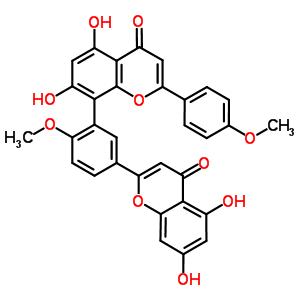 548-19-6 8-[5-(5,7-dihydroxy-4-oxo-4H-chromen-2-yl)-2-methoxyphenyl]-5,7-dihydroxy-2-(4-methoxyphenyl)-4H-chromen-4-one