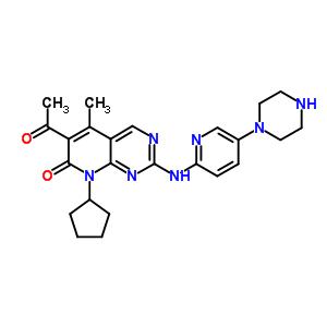 6-Acetyl-8-cyclopentyl-5-methyl-2-[[5-(piperazin-1-yl)pyridin-2-yl]amino]-8H-pyrido[2,3-d]pyrimidin-7-one 571190-30-2