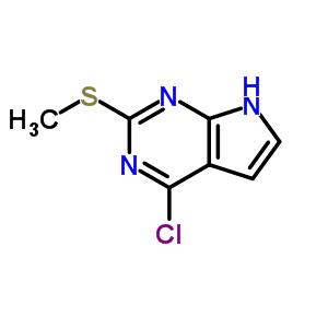57564-94-0 4-Chloro-2-(methylsulfanyl)-7H-pyrrolo[2,3-d]pyrimidine