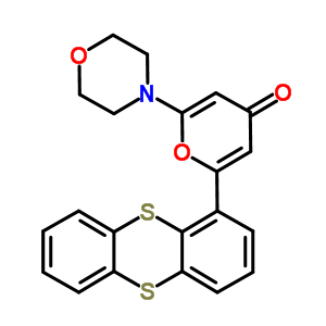 587871-26-9 2-morpholin-4-yl-6-thianthren-1-yl-4H-pyran-4-one