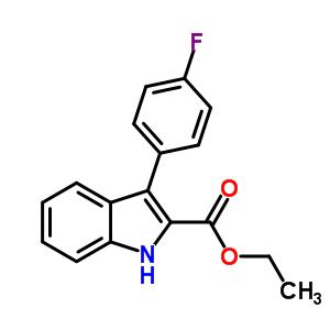 93957-39-2 ethyl 3-(4-fluorophenyl)-1H-indole-2-carboxylate