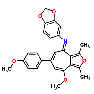 4567-88-8 N-[(4E)-8-methoxy-6-(4-methoxyphenyl)-1,3-dimethyl-4H-cyclohepta[c]furan-4-ylidene]-1,3-benzodioxol-5-amine