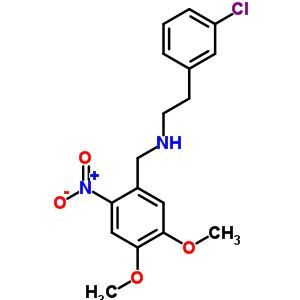 5566-47-2 2-(3-chlorophenyl)-N-(4,5-dimethoxy-2-nitrobenzyl)ethanamine