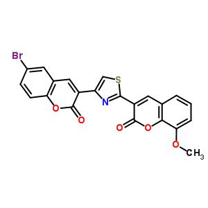 5941-99-1 6-bromo-3-[2-(8-methoxy-2-oxo-2H-chromen-3-yl)-1,3-thiazol-4-yl]-2H-chromen-2-one