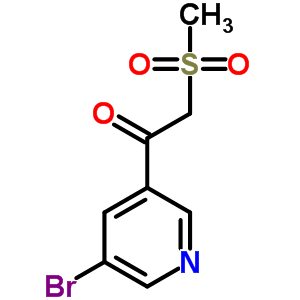 386715-50-0 1-(5-bromopyridin-3-yl)-2-(methylsulfonyl)ethanone