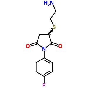 400063-27-6 3-[(2-aminoethyl)sulfanyl]-1-(4-fluorophenyl)pyrrolidine-2,5-dione