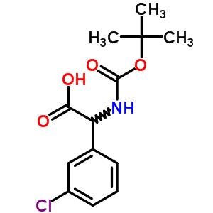 669713-92-2 [(tert-butoxycarbonyl)amino](3-chlorophenyl)acetic acid