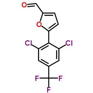 680215-60-5 5-[2,6-dichloro-4-(trifluoromethyl)phenyl]furan-2-carbaldehyde