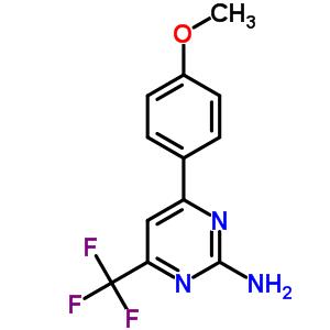 519056-51-0 4-(4-methoxyphenyl)-6-(trifluoromethyl)pyrimidin-2-amine