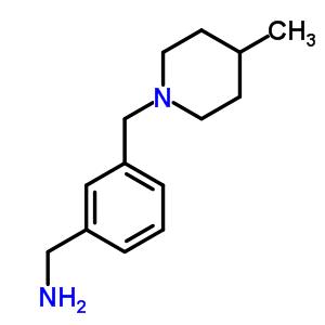 690632-06-5 1-{3-[(4-methylpiperidin-1-yl)methyl]phenyl}methanamine