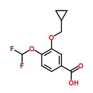 162401-62-9 3-(Cyclopropylmethoxy)-4-(difluoromethoxy)benzoic acid