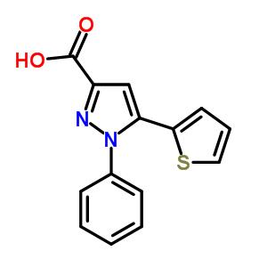 220192-02-9 1-phenyl-5-thiophen-2-yl-1H-pyrazole-3-carboxylic acid