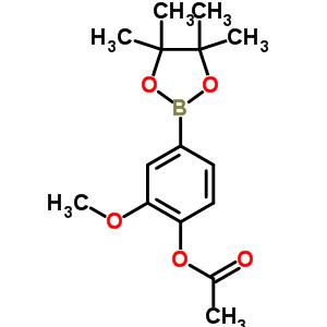 811841-45-9 2-methoxy-4-(4,4,5,5-tetramethyl-1,3,2-dioxaborolan-2-yl)phenyl acetate
