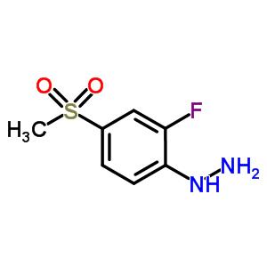 832714-48-4 (2-fluoro-4-methylsulfonyl-phenyl)hydrazine