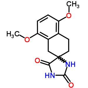 5',8'-二甲氧基-3',4'-二氢-1'H-螺环[咪唑烷-4,2'-萘]-2,5-二酮 86264-49-5