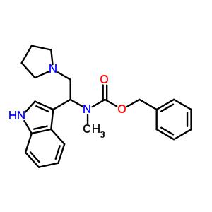 1-吡咯烷基-2-(N-Cbz-N-甲基)氨基-2-(3'-吲哚)乙烷 886363-10-6
