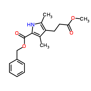 20303-31-5 benzyl 4-(3-methoxy-3-oxopropyl)-3,5-dimethyl-1H-pyrrole-2-carboxylate