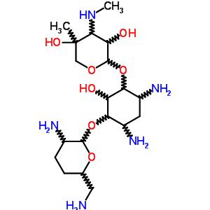 26098-04-4 4,6-diamino-3-{[3-deoxy-4-C-methyl-3-(methylamino)pentopyranosyl]oxy}-2-hydroxycyclohexyl 2,6-diamino-2,3,4,6-tetradeoxyhexopyranoside
