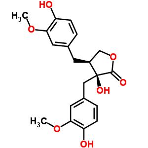 34444-37-6 3-hydroxy-3,4-bis(4-hydroxy-3-methoxybenzyl)dihydrofuran-2(3H)-one