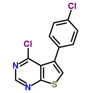Thieno[2,3-d]pyrimidine,4-chloro-5-(4-chlorophenyl)- 331761-46-7
