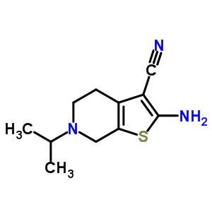 26830-40-0 2-amino-6-(propan-2-yl)-4,5,6,7-tetrahydrothieno[2,3-c]pyridine-3-carbonitrile